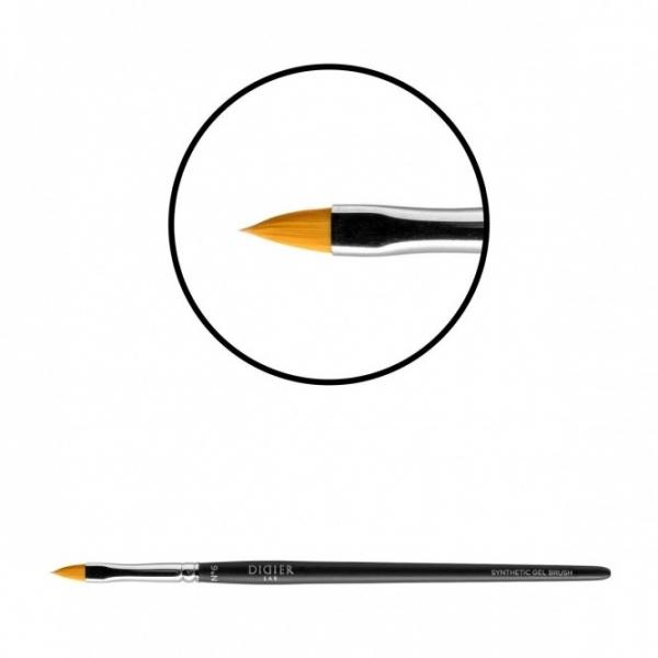 "Pensula pentru gel ""Didier Lab"",No6,limba de pisica,(fire aurii), 1buc/Gel brush, No6,cat's tongue"