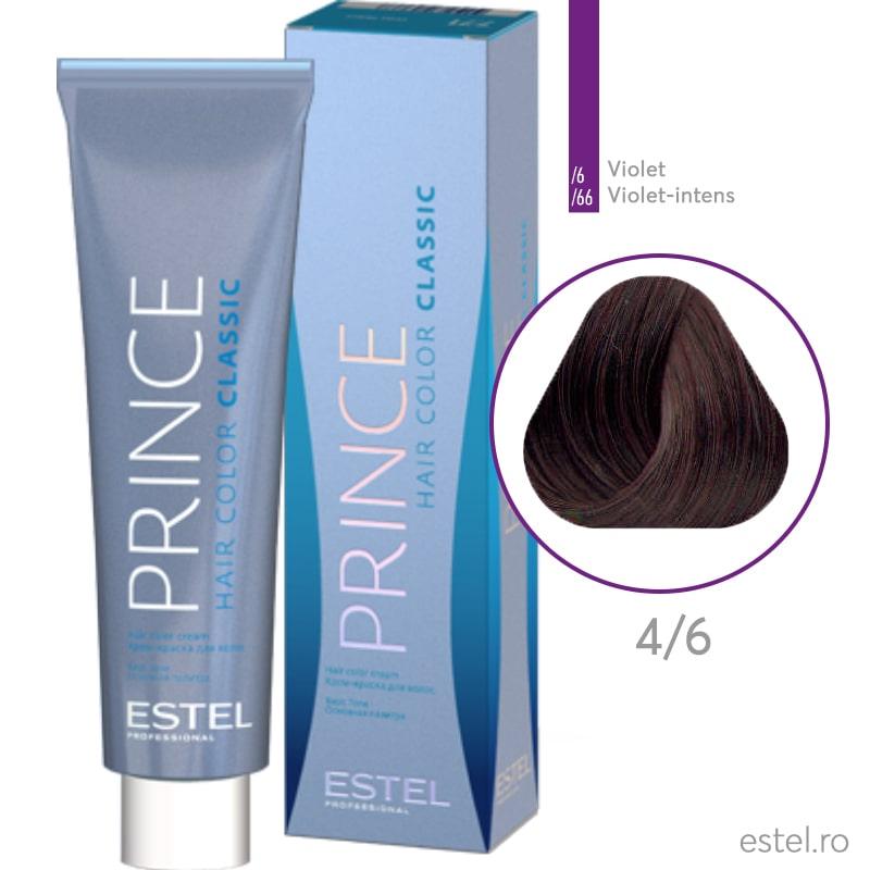 Prince Vopsea permanenta pentru par 4/6 Saten mediu violet 100 ml