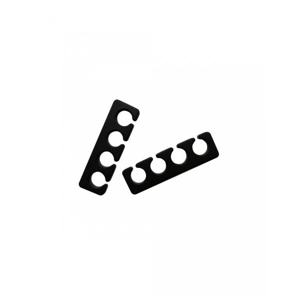 Separator din silicon pentru degete, negru 1pereche/Silicone Finger Tab, black