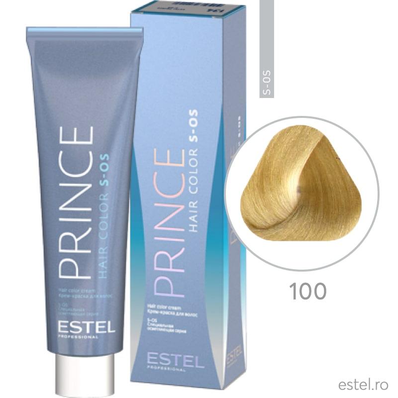 Prince S-OS Vopsea permanenta pentru par 100 Super-blond natural 100 ml
