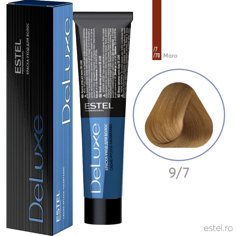 Vopsea permanenta de par De Luxe 9/7 Blond maro 60 ml