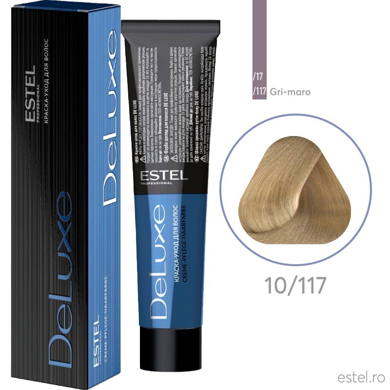 Vopsea permanenta de par De Luxe 10/117 Blond foarte deschis cenusiu intens-maro 60 ml