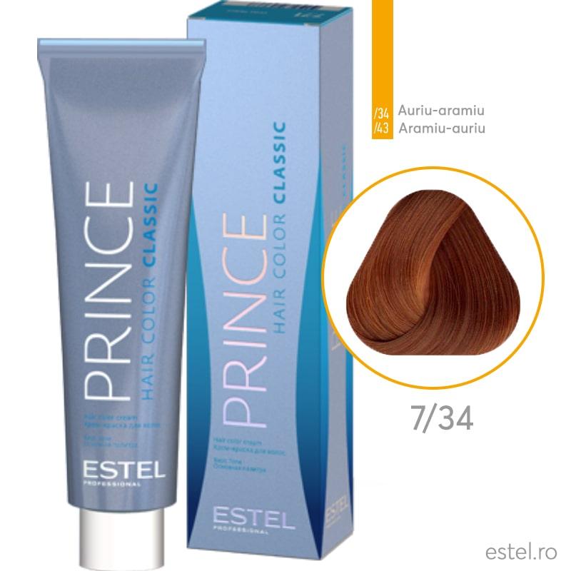 Prince vopsea permanenta pentru par 7/34 Blond mediu auriu-aramiu 100 ml