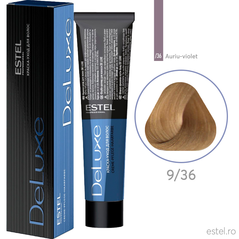 Vopsea permanenta de par De Luxe 9/36 Blond auriu-mov 60 ml