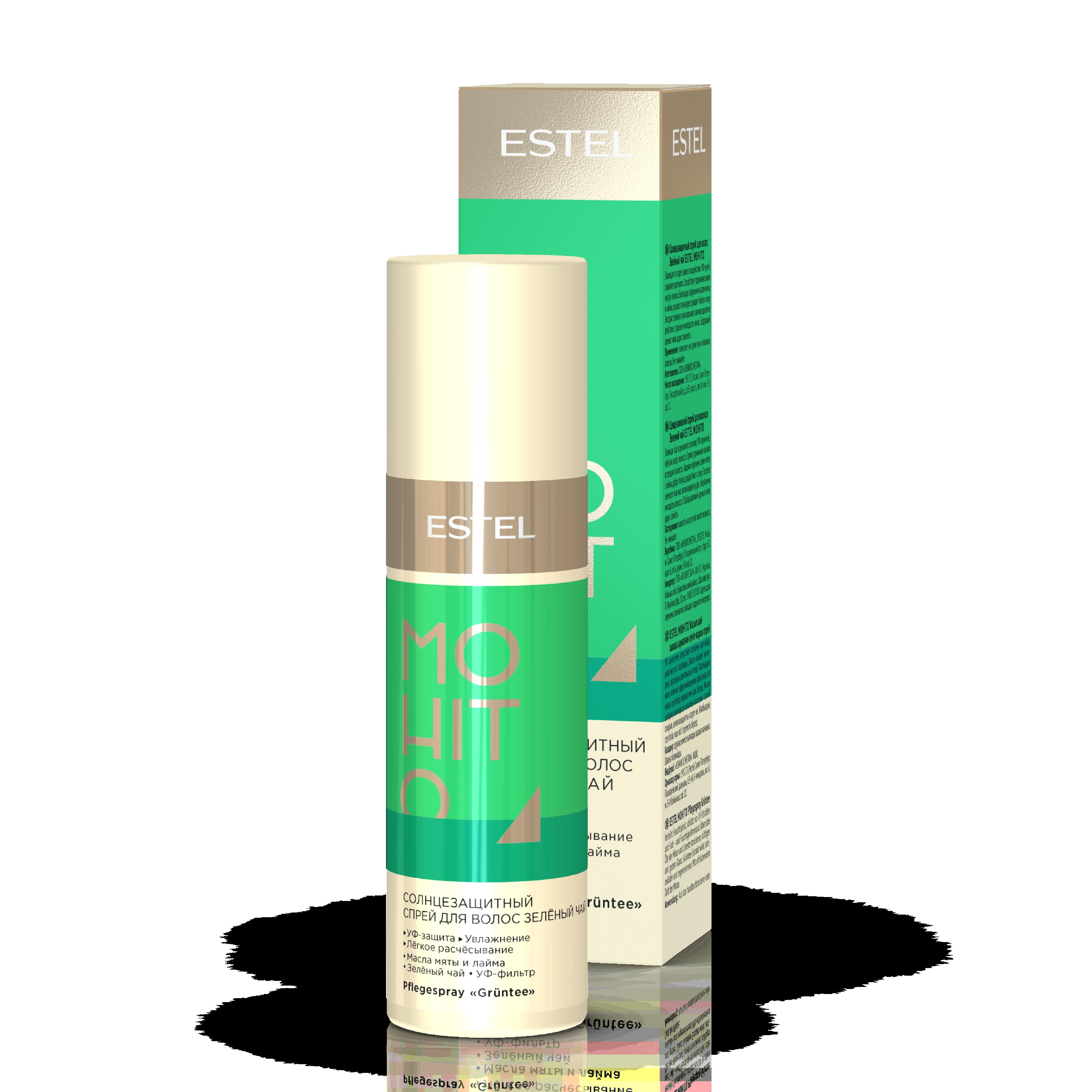 M/SP100 Spray protectie solara pentru par - ceai verde  ESTEL MOHITO (100 ml)