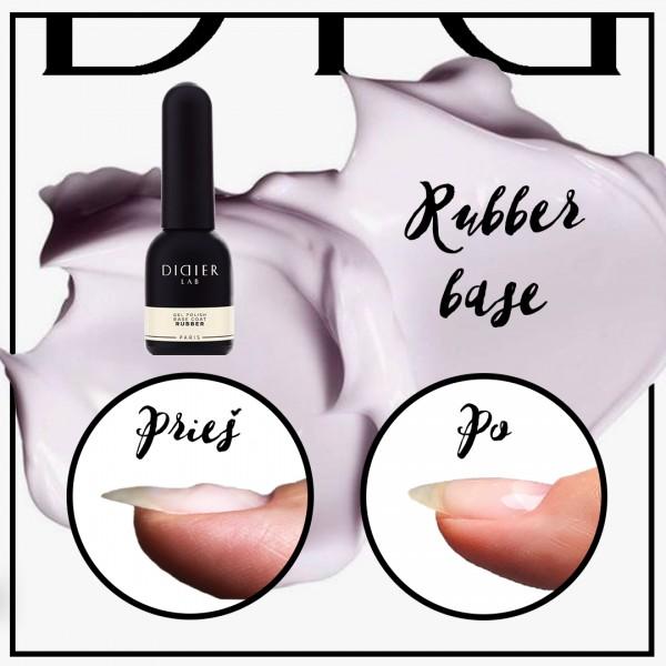 """Gel lustruire -  Cauciuc strat de baza """"Didier Lab""""/Gel polish-Rubber base coat """"Didier L, 10ml"""