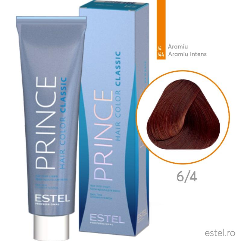 Prince Vopsea permanenta pentru par 6/4 Blond inchis aramiu 100 ml