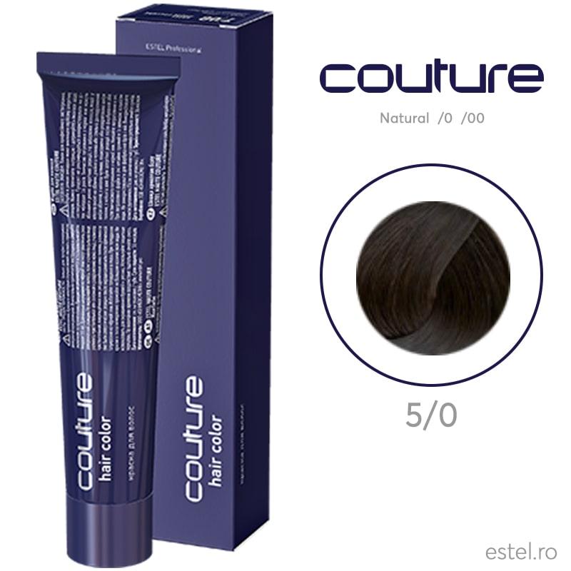 Vopsea permanenta pentru par Haute Couture 5/0 Castaniu deschis 60 ml