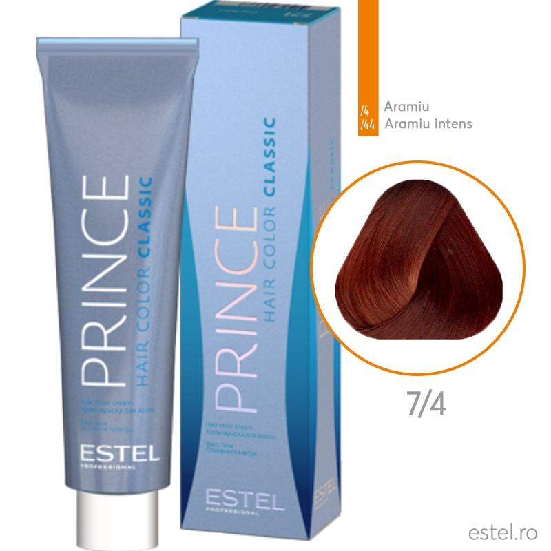 Prince Vopsea permanenta pentru par 7/4 Blond mediu aramiu 100 ml