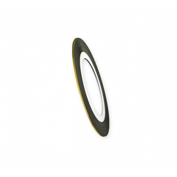 "Modele pentru unghii  ""Didier Lab"", 0.8mm, golden/Nail art tape ""Didier Lab"", 0.8mm, golden"