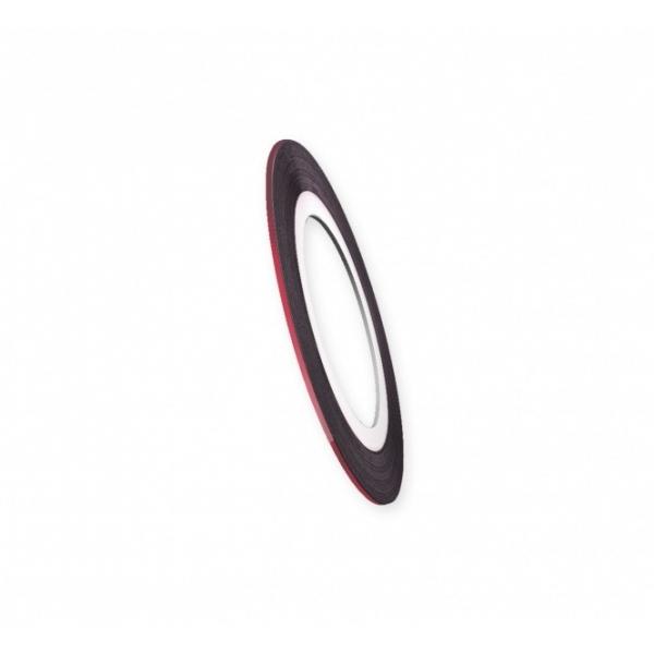 "Modele pentru unghii  ""Didier Lab"", 0.8mm, red/Nail art tape ""Didier Lab"", 0.8mm, red"