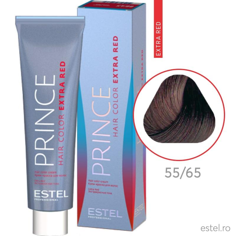 Prince Extra Red Vopsea permanenta pentru par 55/65 Saten deschis violet-rosu 100 ml