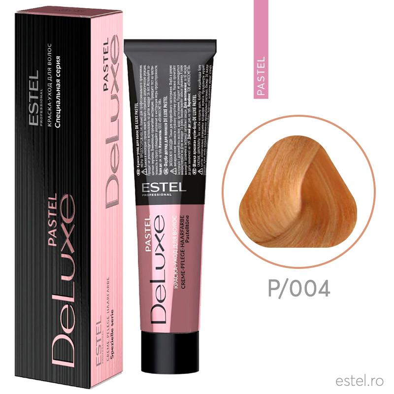 Vopsea permanenta de par De Luxe PASTEL/004 Piersica 60 ml