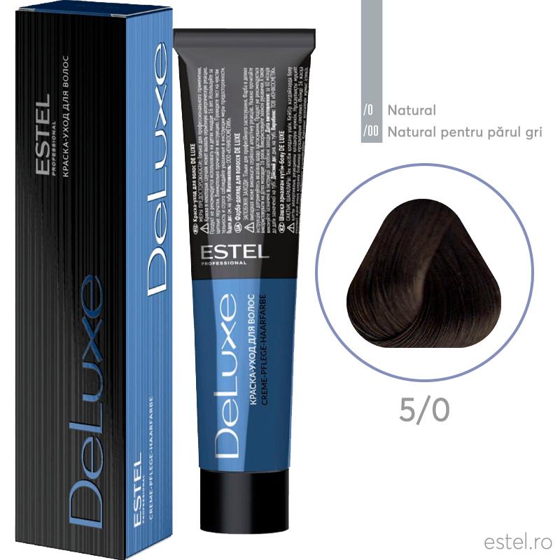 Vopsea permanenta de par De Luxe 5/0 Saten deschis 60 ml