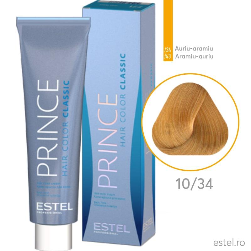 Prince Vopsea permanenta pentru par 10/34 Blond foarte deschis auriu-aramiu 100 ml