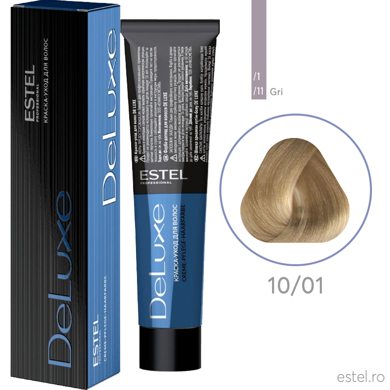 Vopsea permanenta de De Luxe 10/01 Blond foarte deschis 60 ml