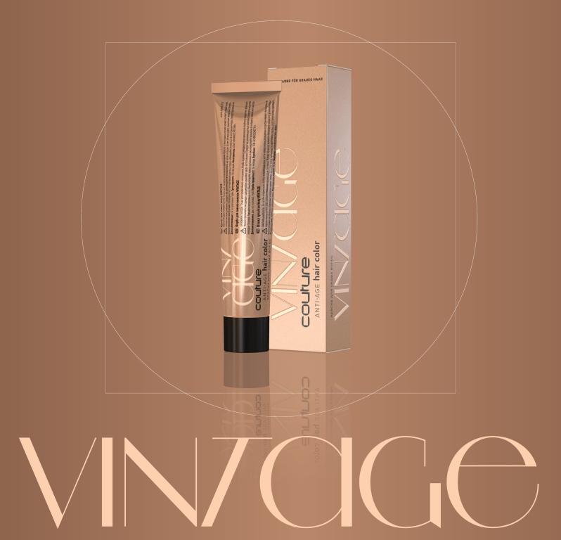 Vopsea permanenta pentru par HAUTE COUTURE Vintage 6/71 Blond inchis maro-cenusiu 60 ml