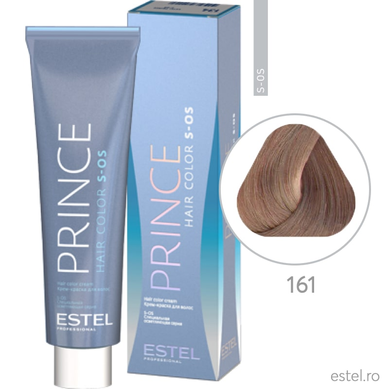 Prince S-OS Vopsea permanenta pentru par 161 Super blond violet-gri 100 ml