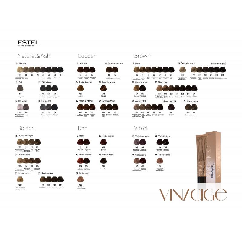 Vopsea permanenta HAUTE COUTURE Vintage 6/65 Blond inchis mov-rosu 60 ml