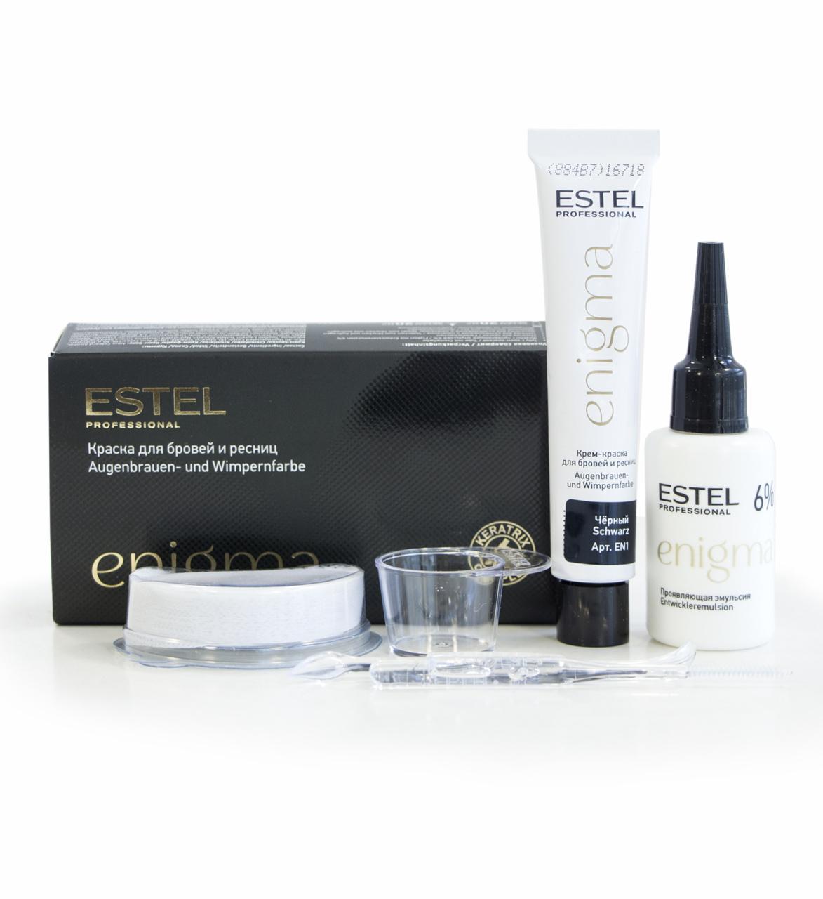 ENIGMA Vopsea pentru sprancene si gene - Negru, 20*20 ml