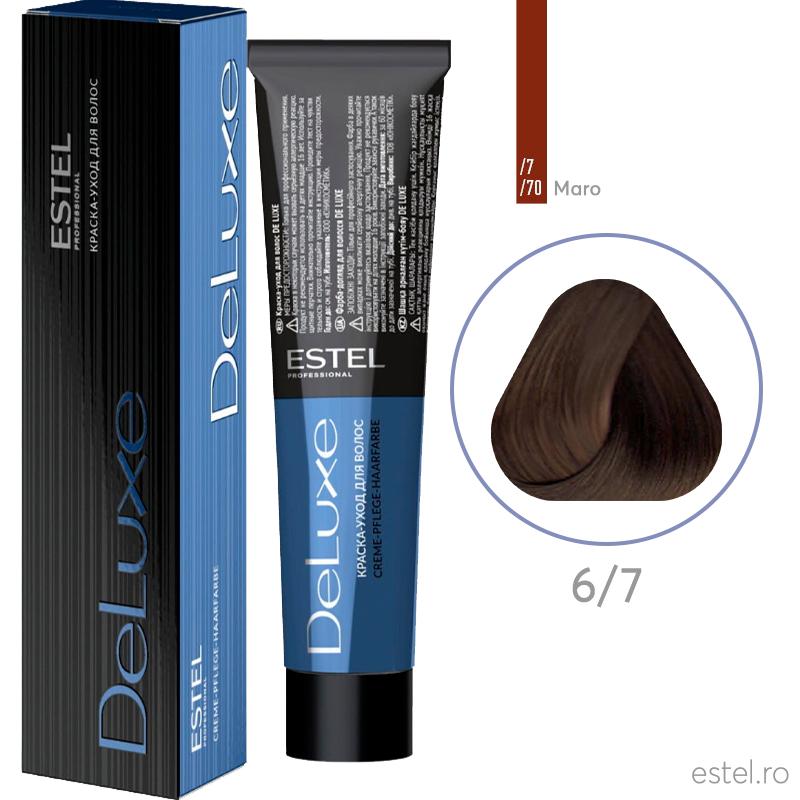 Vopsea permanenta de par De Luxe 6/7 Blond inchis maro 60 ml