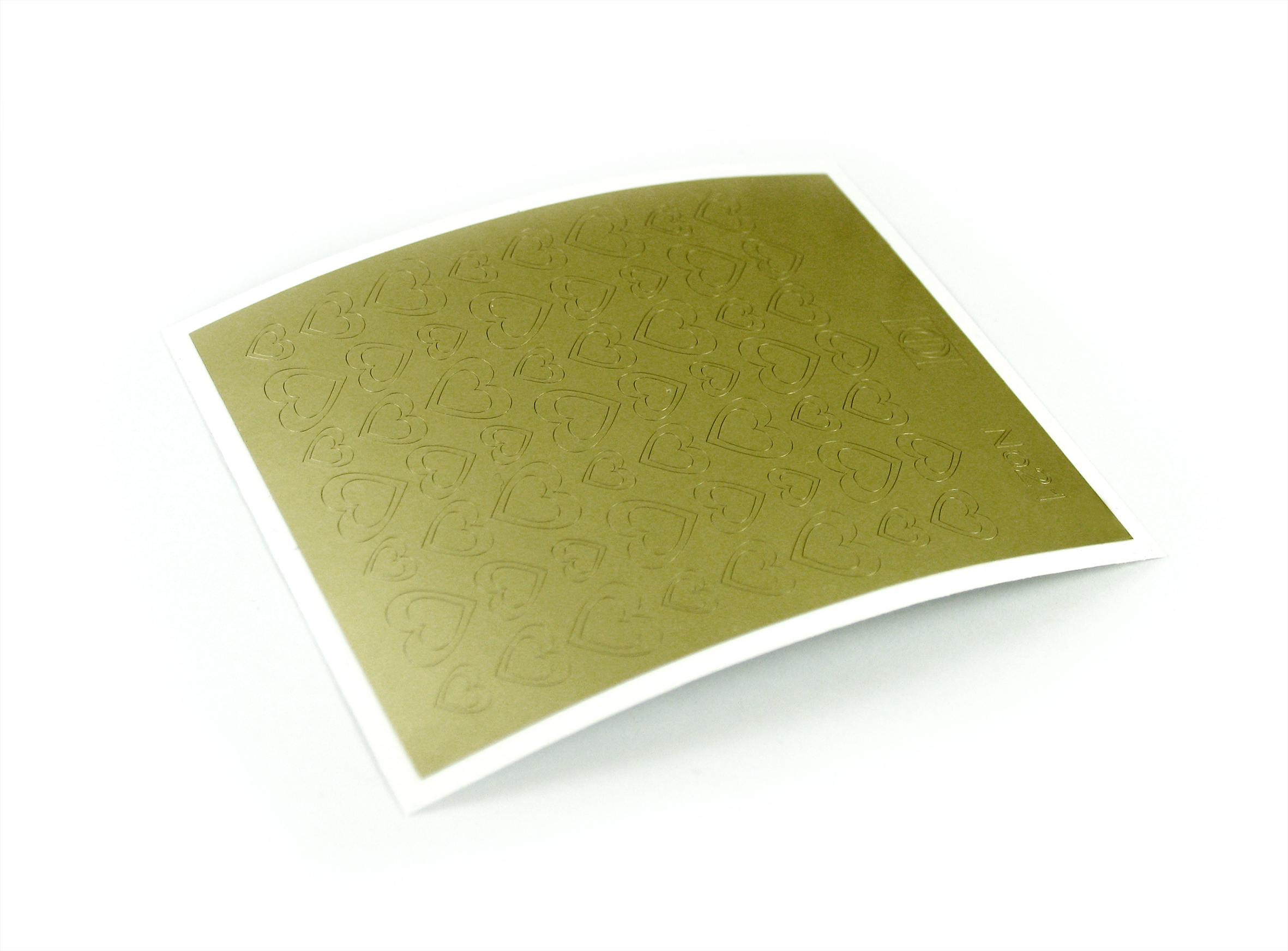 "Stiker pentru unghii ""Didier Lab"", Nr21, gold/Nail art sticker ""Didier lab"", No21, gold"