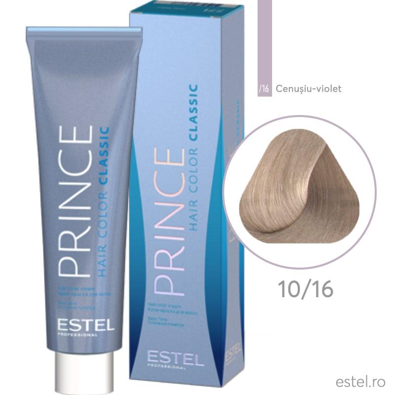 Prince Vopsea permanenta pentru par 10/16 Blond foarte deschis cenusiu-violet 100 ml
