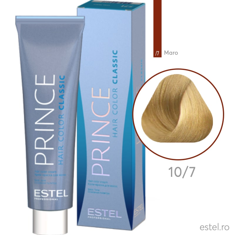 Prince Vopsea permanenta pentru par 10/7 Blond foarte deschis maro 100 ml