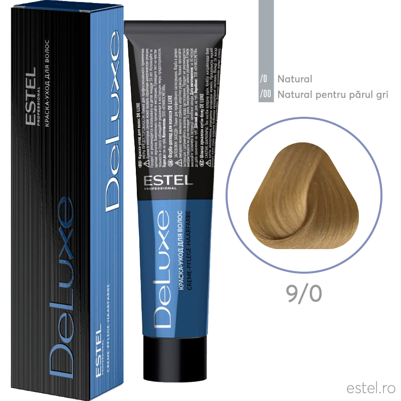 Vopsea permanenta de par De Luxe 9/0 Blond 60 ml