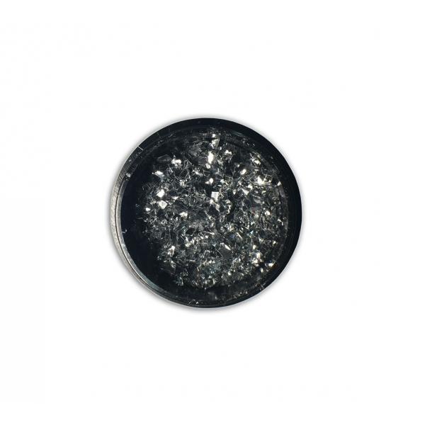 "96810Sclipici fulgi de gheata ""Didier Lab"", silver 6g/Cut mirror flakes ""Didier Lab"", silver"