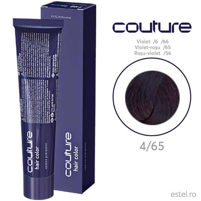 Vopsea permanenta pentru par Haute Couture 4/65 Castaniu mediu violet-rosu 60 ml
