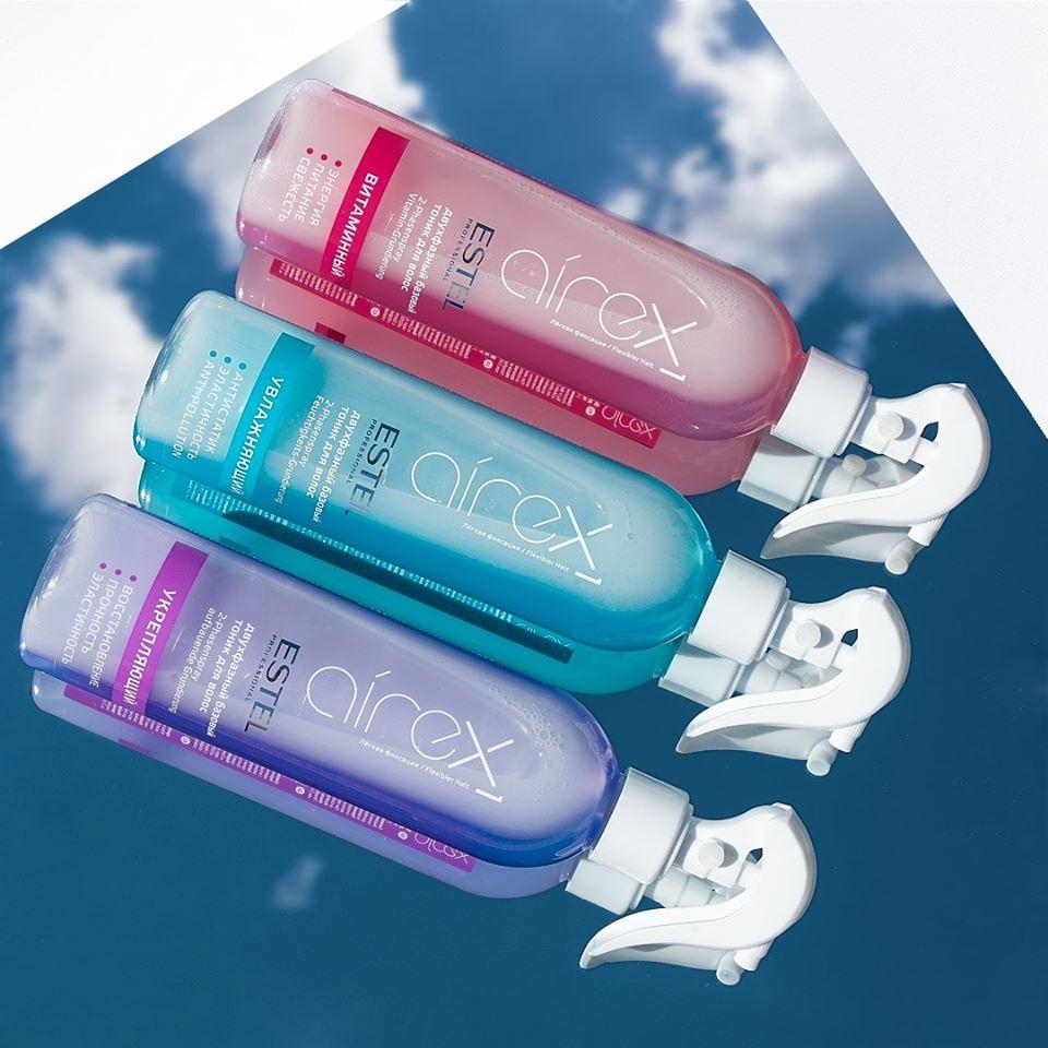 Spray tonic bifazic pentru par AIREX pentru hidratare, 400 ml