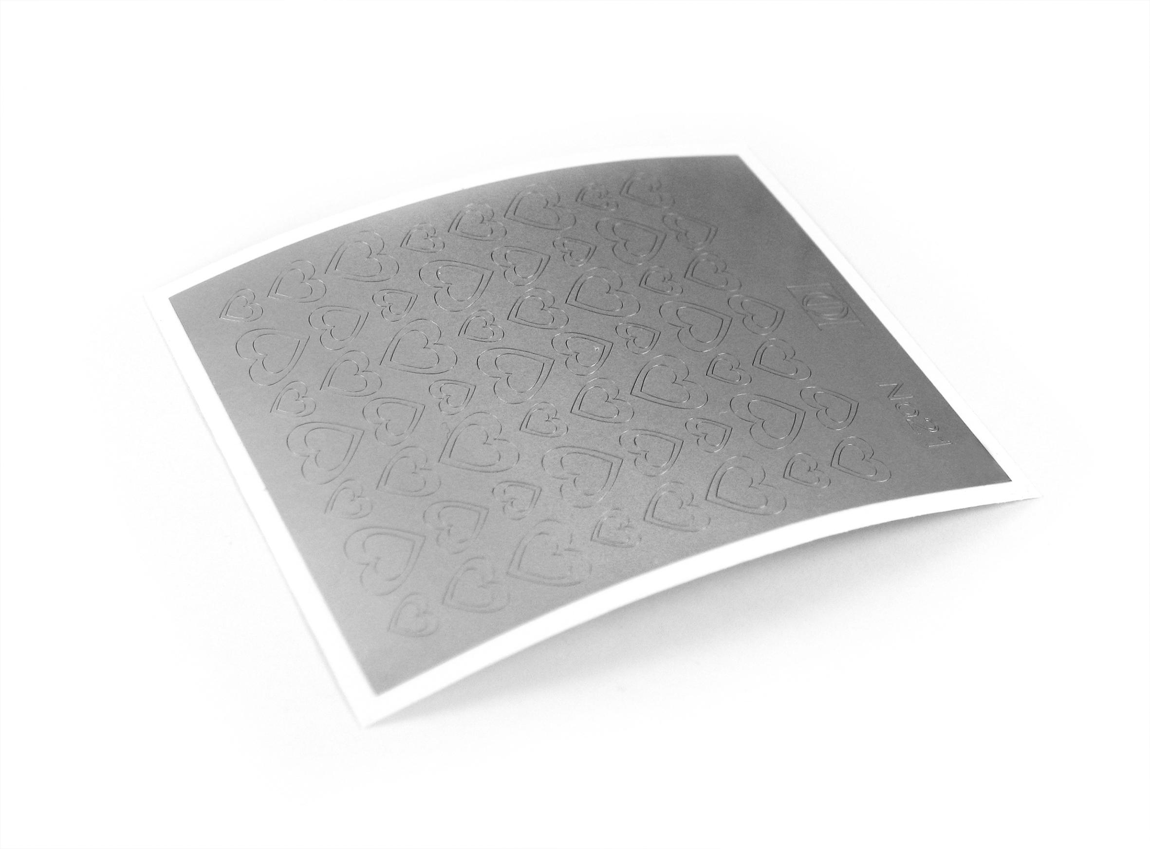 "Stiker pentru unghii ""Didier Lab"" , Nr22, silver/Nail art sticker ""Didier lab"", No22, silver"