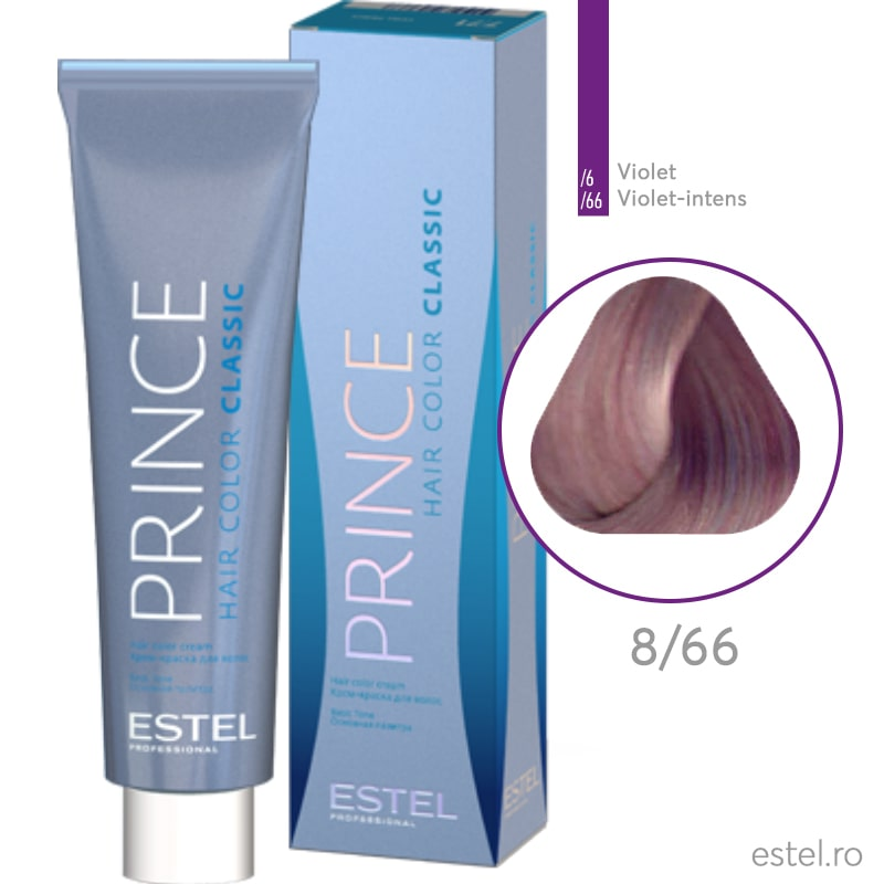 Prince Vopsea permanenta pentru par 8/66 Blond deschis violet intens 100 ml