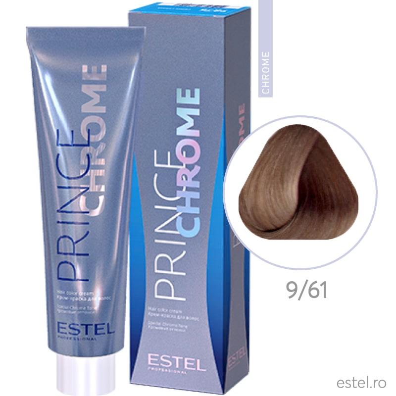 Prince Chrome Vopsea crema pt par 9/61 blond-violet gri 100ml