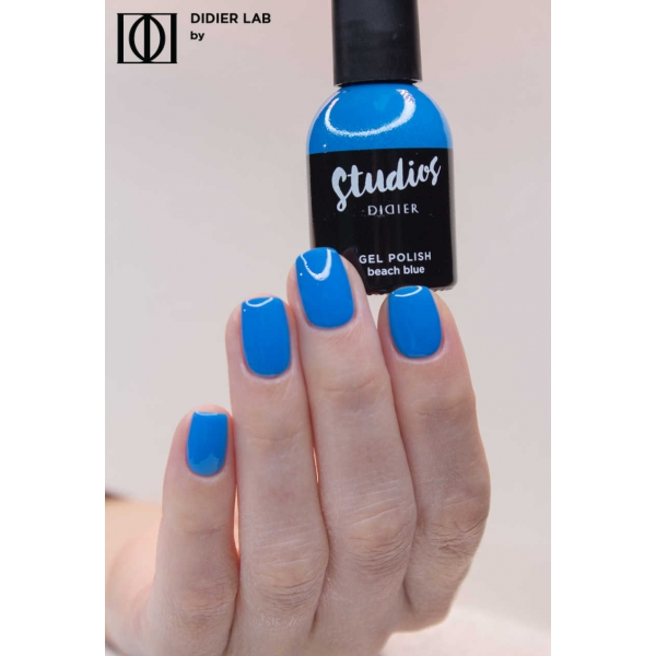 Gel lac semipermanent pentru unghii Didier Lab Studios - Beach blue/Gel Polish Studios - Beach blue, 8 ml