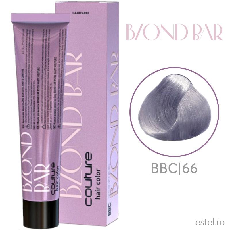 Vopsea permanenta pentru par Blond Bar Couture BBC/66 Blond violet intens 60 ml