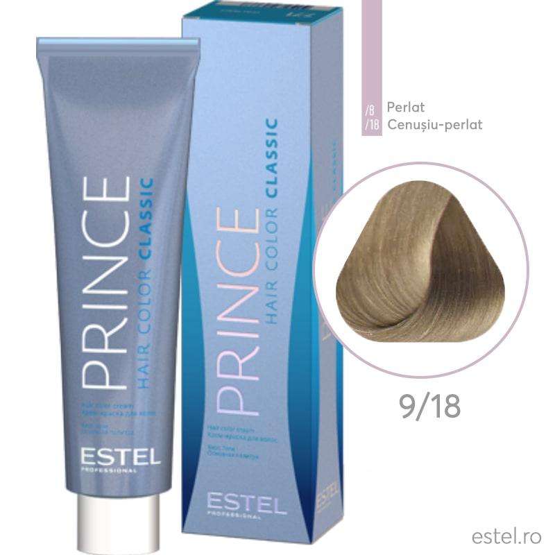 Prince Vopsea permanenta pentru par 9/18 Blond cenusiu perlat 100 ml