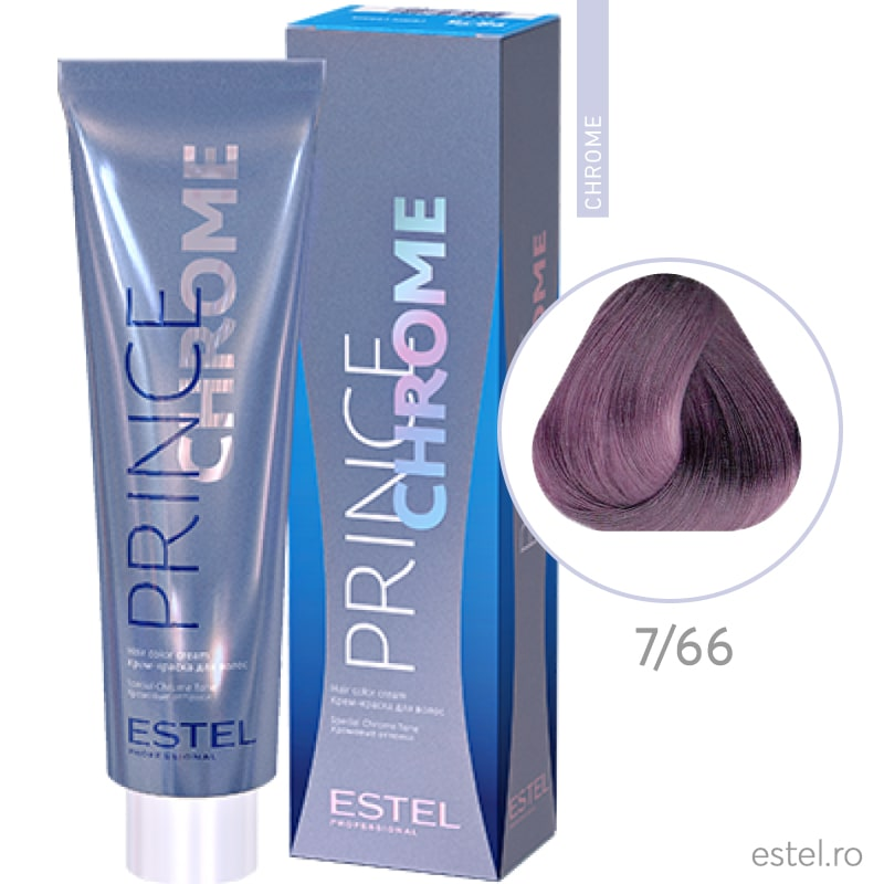 Prince Chrome Vopsea crema pt par 7/66 blond-violet intens 100ml