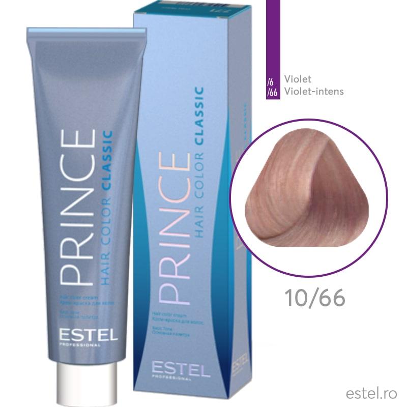 Prince Vopsea permanenta pentru par 10/66 Blond foarte deschis violet intens 100 ml