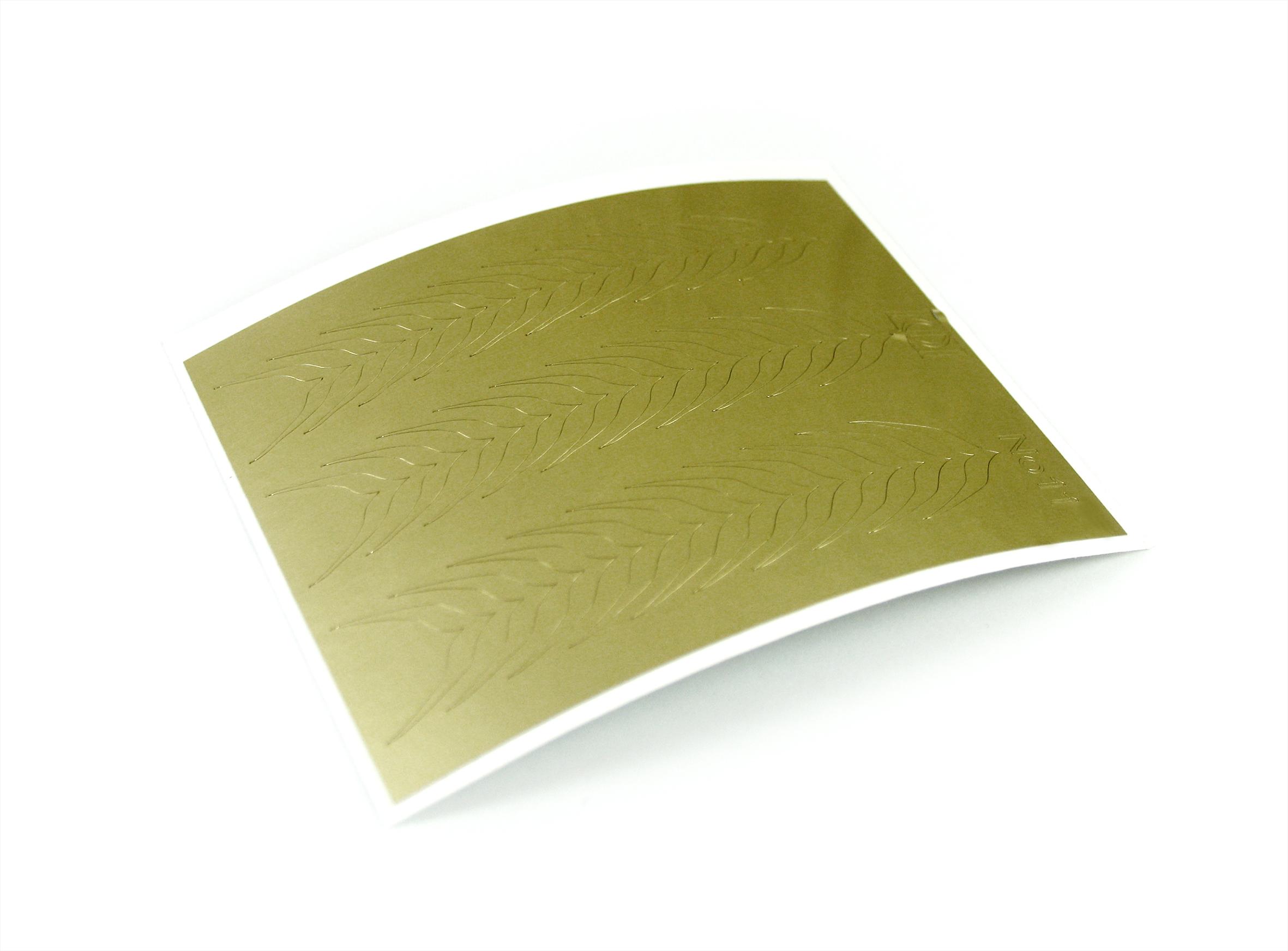 "Stiker pentru unghii ""Didier Lab"", Nr11, gold/Nail art sticker ""Didier lab"", No11, gold"