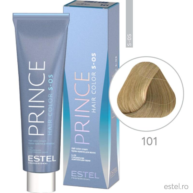 Prince S-OS Vopsea permanenta pentru par 101 Super blond gri 100 ml