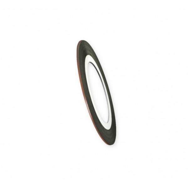 "Modele pentru unghii ""Didier Lab"", 0.8mm, bronze/Nail art tape ""Didier Lab"", 0.8mm, bronze"