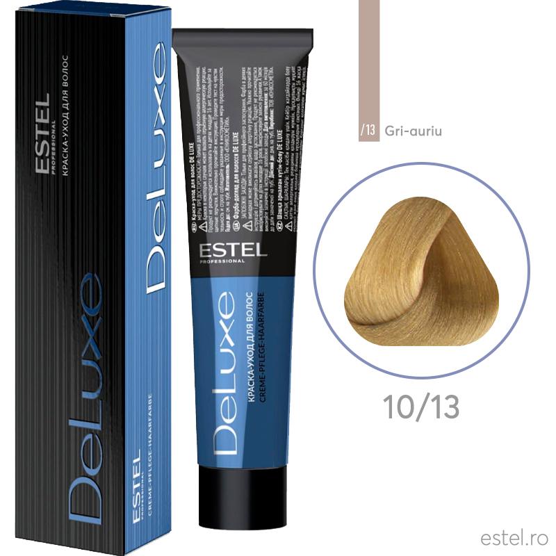 Vopsea permanenta de par De Luxe 10/13 Blond foarte deschis cenusiu-auriu 60 ml