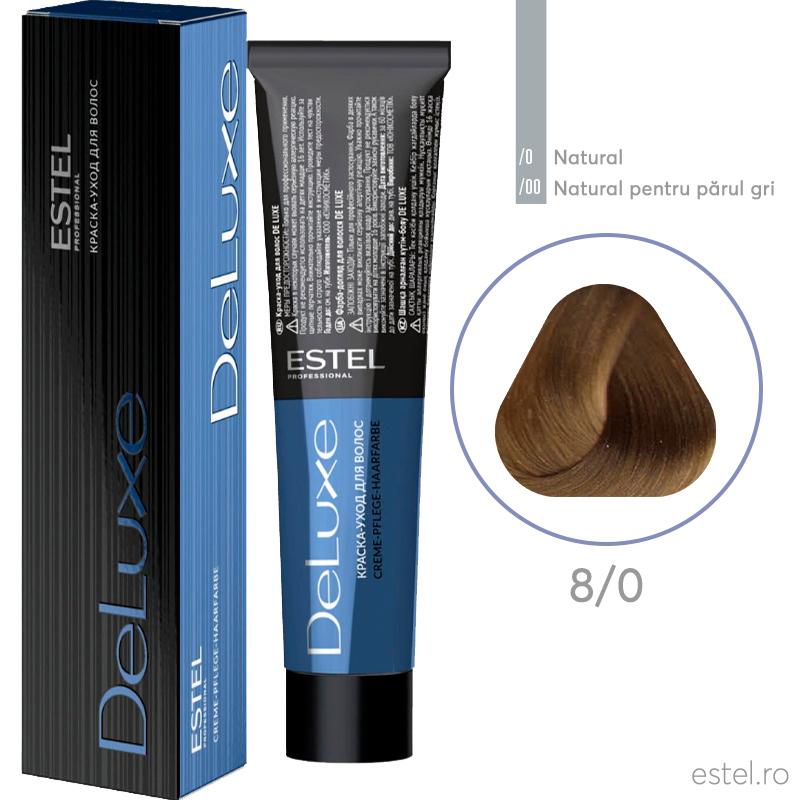 Vopsea permanenta de par De Luxe 8/0 Blond deschis 60 ml