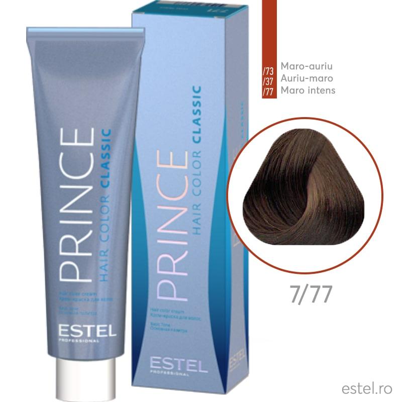 Prince Vopsea permanenta pentru par 7/77 Blond mediu maro intens 100 ml