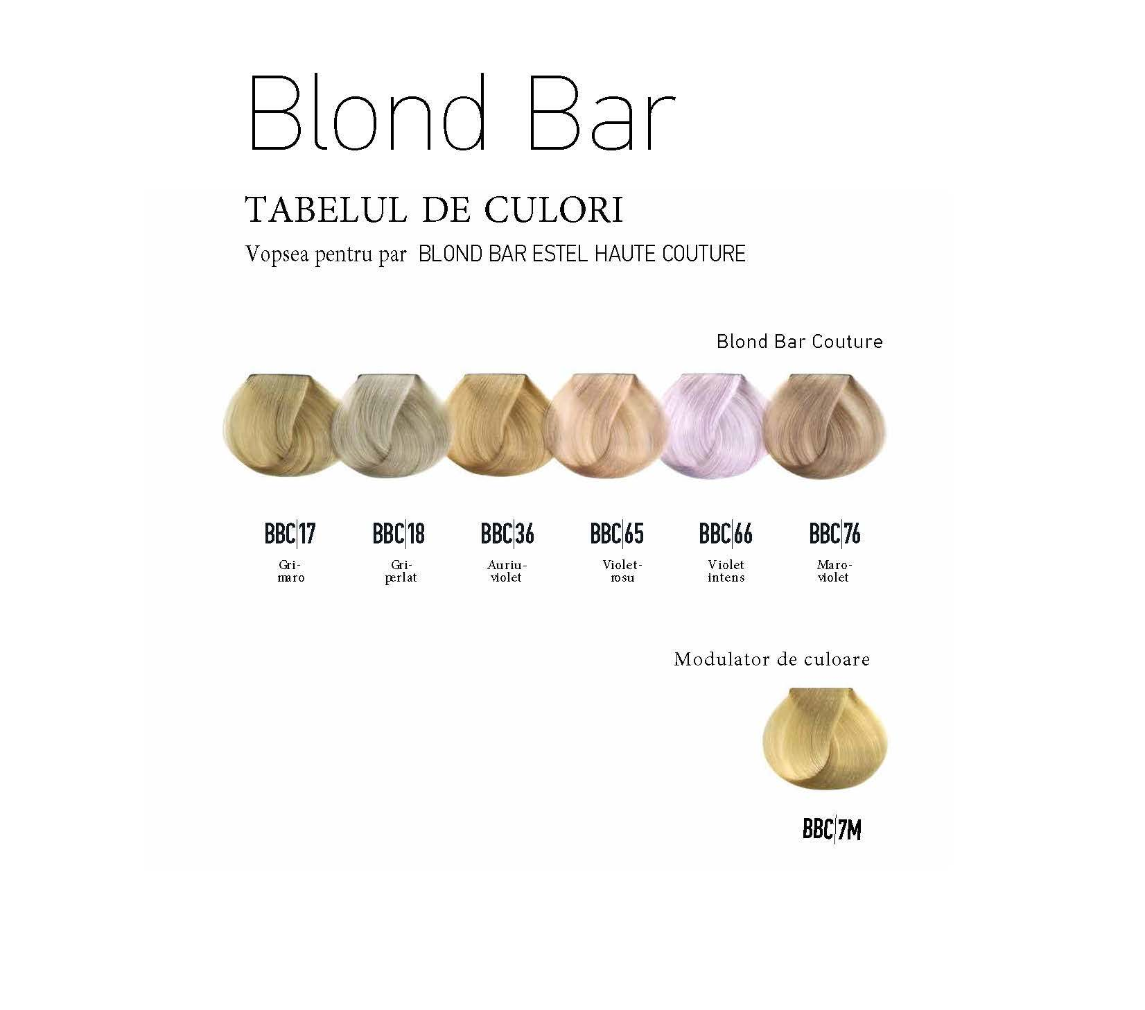 Vopsea permanenta pentru par Blond Bar Couture BBC/76 Blond maro-violet 60 ml