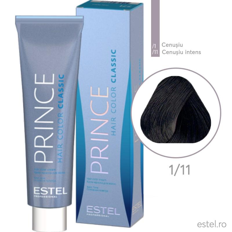 Prince Vopsea permanenta pentru par 1/11 Negru-albastrui 100 ml