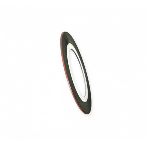 """Modele pentru unghii """"Didier Lab"""", 0.8mm, light bronze/Nail art tape """"Didier Lab"""", 0.8mm, light bron"""