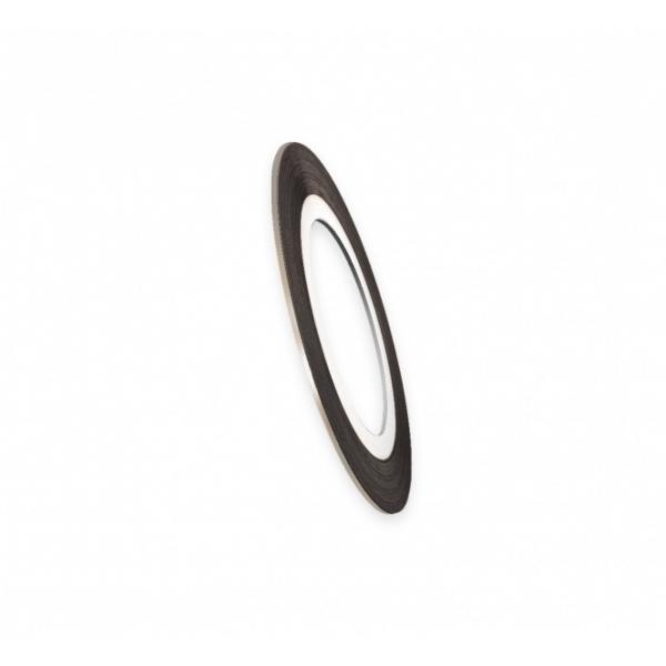 "Modele pentru unghii ""Didier Lab"", 2mm, silver/Nail art tape ""Didier Lab"", 2mm, silver"